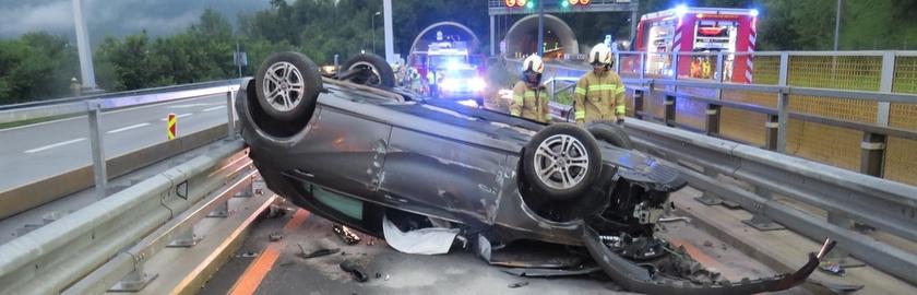 Schwerer Verkehrsunfall im Baustellenbereich, A10 Fahrtrichtung Villach