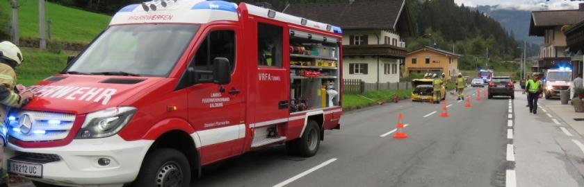 Verletzte Person bei Verkehrsunfall in Pöham