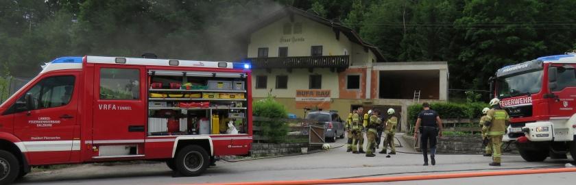 Kellerbrand im Ortsteil Ellmauthal